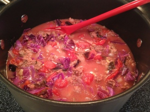 cabbage soup with beyond organic sausage