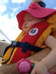 samantha on the boat