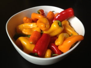 bowl of sweet peppers