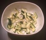 uncooked zucchini