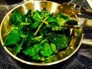 Spicy Beet Greens