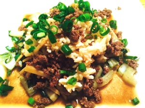 ground beef and bok choy