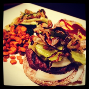 green-fed burger