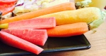 rainbow carrots and almond butter