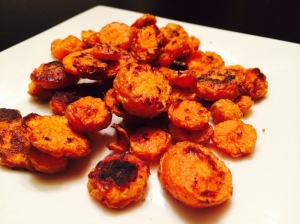 oven-fried spicy carrots